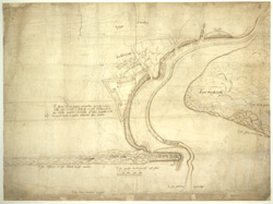 A Plan of the Harbour of Ambletuse, shewing a project for a triangular fort [inserted at a later time?]; drawn by John Rogers [in 1546],